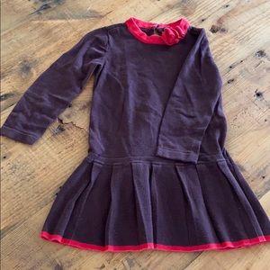 3T Gap brown&red sweater dress.